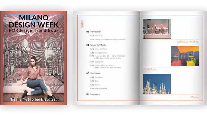 """Nuevo producto Online Shop: ROKdesign Trendbook """"2017 Milano Design Week"""""""