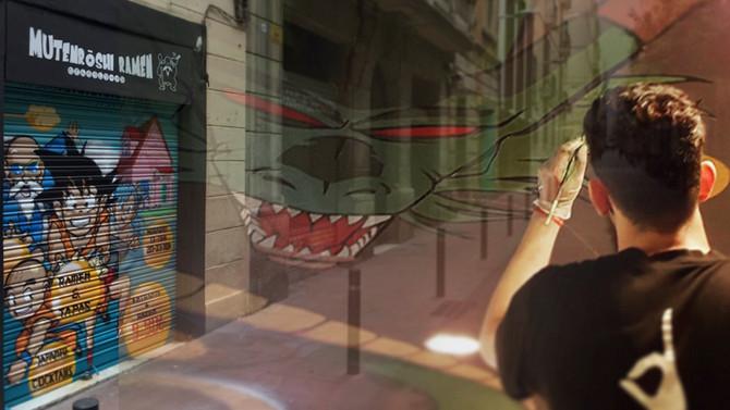 Decoración artística Mutenroshi: Dragon en techos