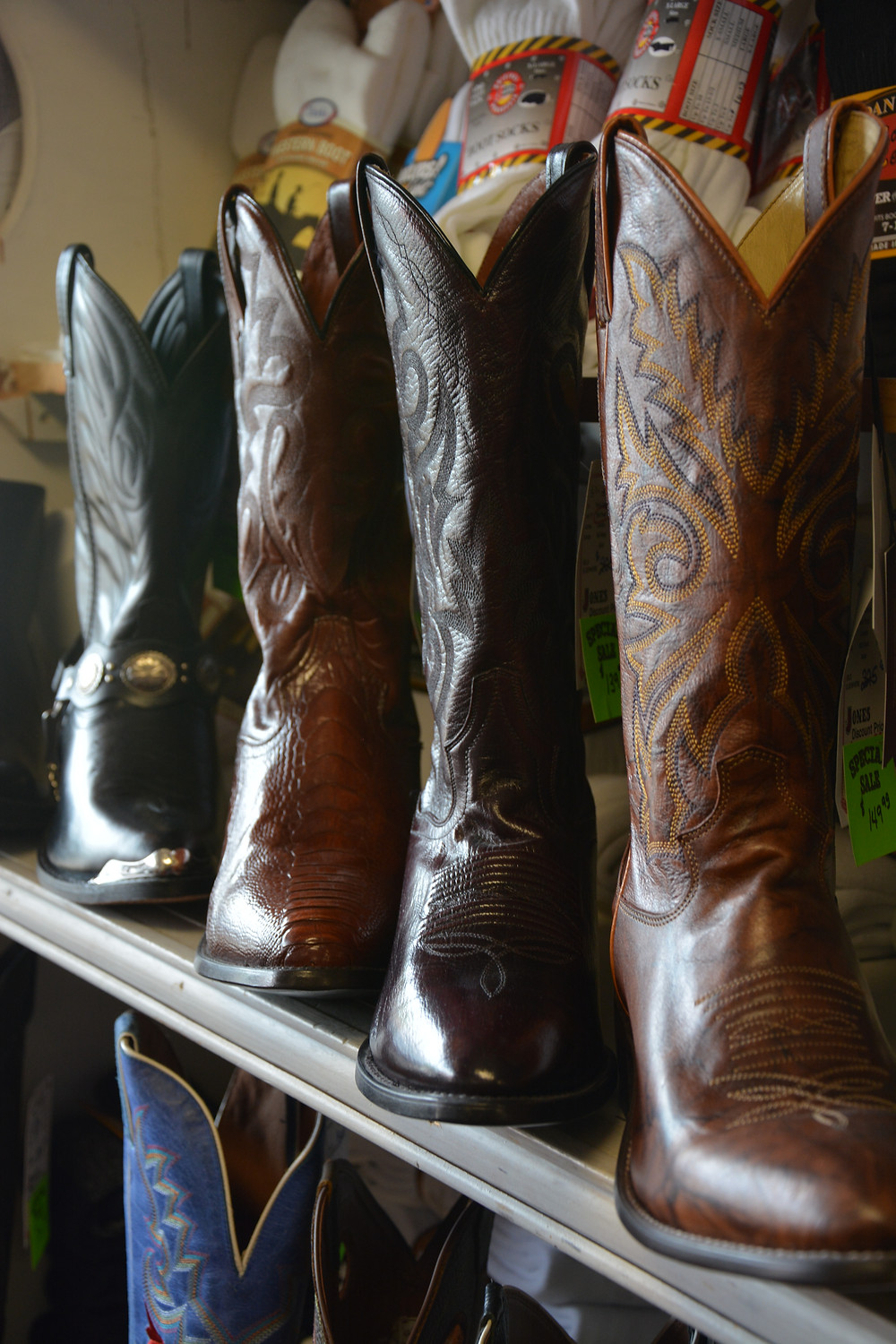 The finest of cowboy boots, no longer just made in the USA, but China and Mexico.
