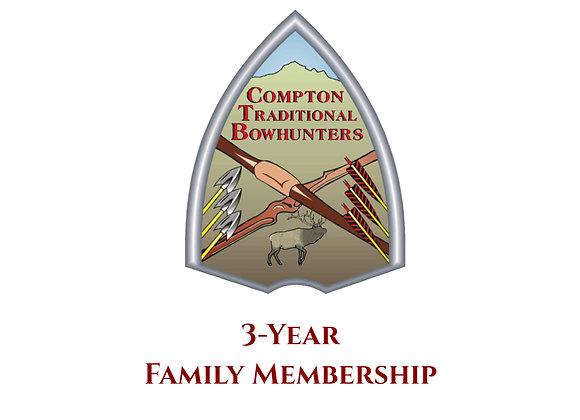 3-year Family Membership