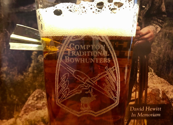 CTB Pint Glass with Embedded Broadhead