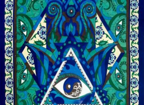 Fatima Hand Tapestry 52 x 76