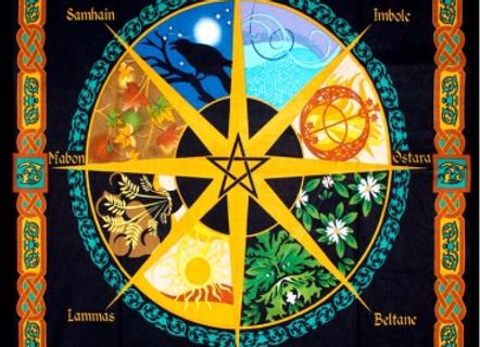 Pagan Calendar Tapestry 52 x 76