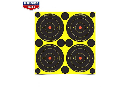 Shoot N C - 3 Inch Bullseye Target 240 Pack Birchwood Casey 34375