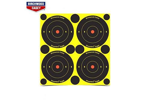 Shoot N C - 3 Inch Bullseye Target 48 Pack Birchwood Casey 34315