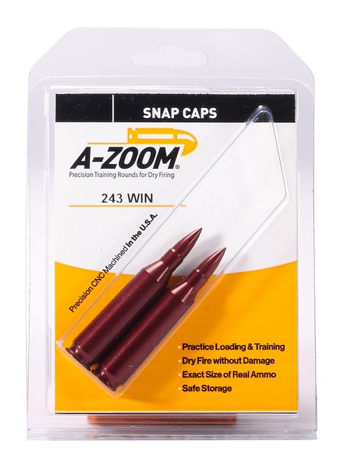 243 Winchester Snap Caps - Pack of 2 Ref: 12223
