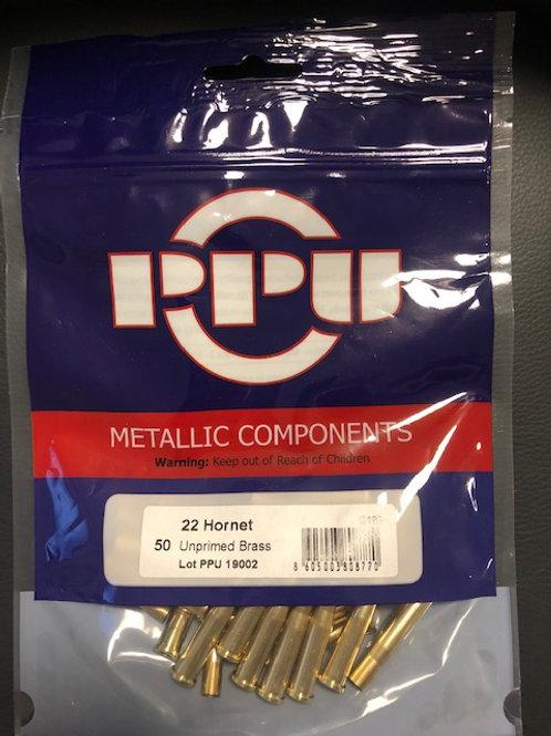 22 Hornet PPU Brand New Brass (50 cases)