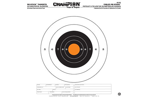 "CHAMPION Re-Stick 100 Yd Rifle Sight in Target 16""x16"" 46102"