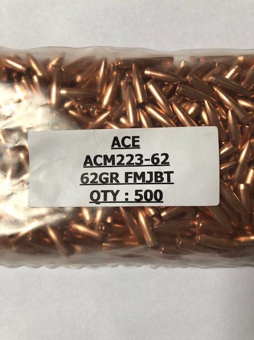 Cal .223 (.224) 62 Grain FMJ-BT Qty: 500 - ACM223-62