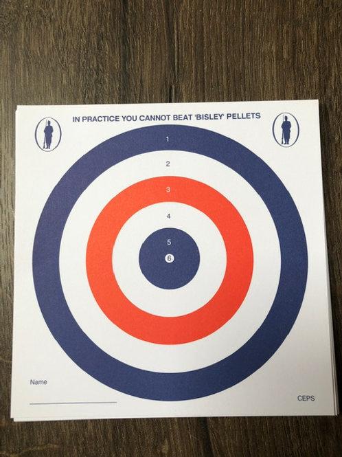 Bisley Air Rifle Paper Targets (100)