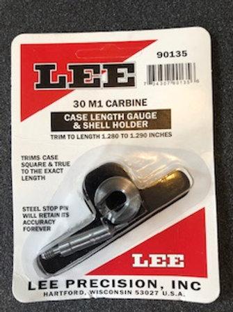 Lee Precision Case Length Gauge Gage & Shell Holder M1 Carbine - 90135