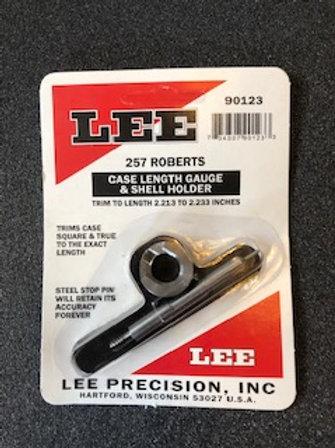 Lee Precision Case Length Gauge Gage & Shell Holder 257 Roberts 90123