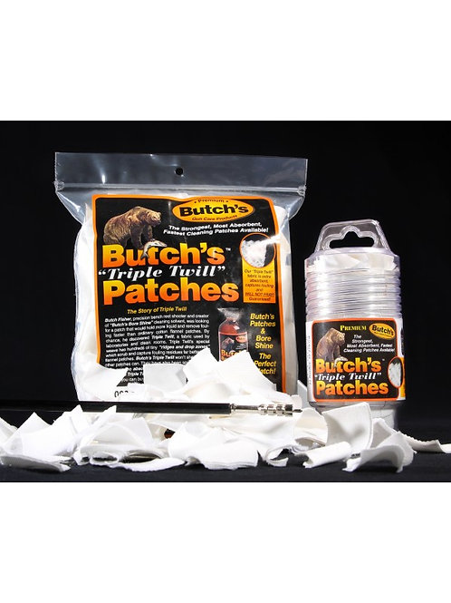 "Lyman / Butch's Patches 13/4"" Sq 270 - 35 Cal 300 Pack Gun Cleaning 02883"