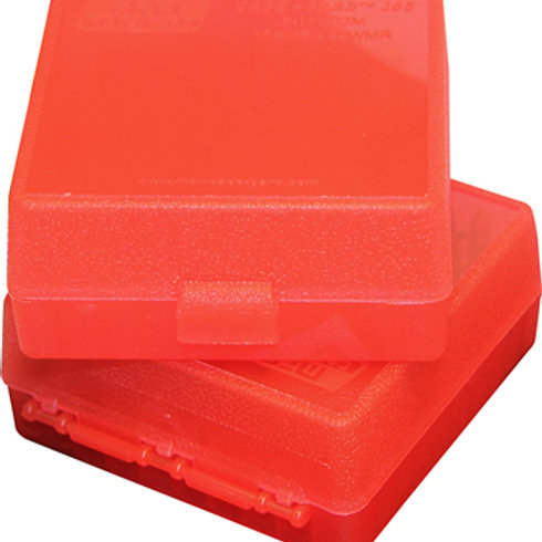 MTM Case-Gard 22 Mag & 17 HMR Ammo Box P100-22M-29 100 Rds - Mixed Colours