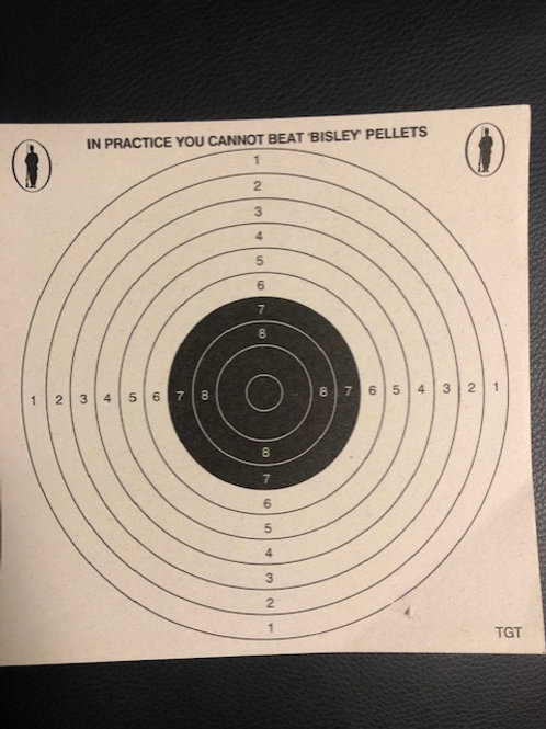 Bisley Air Rifle Grade 1 Card Targets (50)
