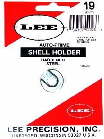 Lee precision PRIMING TOOL SHELL HOLDER #19 9mm Luger, 30 Luger 38 ACP 90023