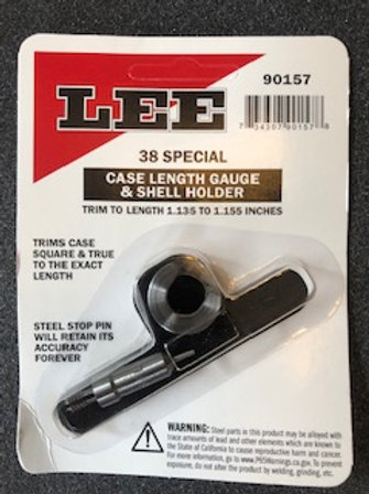 Lee Precision 38 spl case length gauge & shellholder 90157