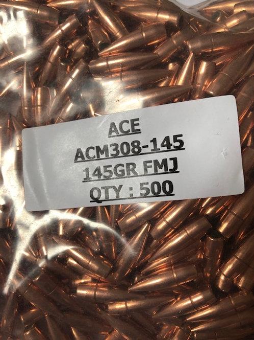 Cal .308 145 Grain FMJ-BT Qty: 500 - ACM308-145