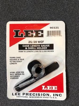Lee Precision Case Length Gauge Gage & Shell Holder 25/20 90121