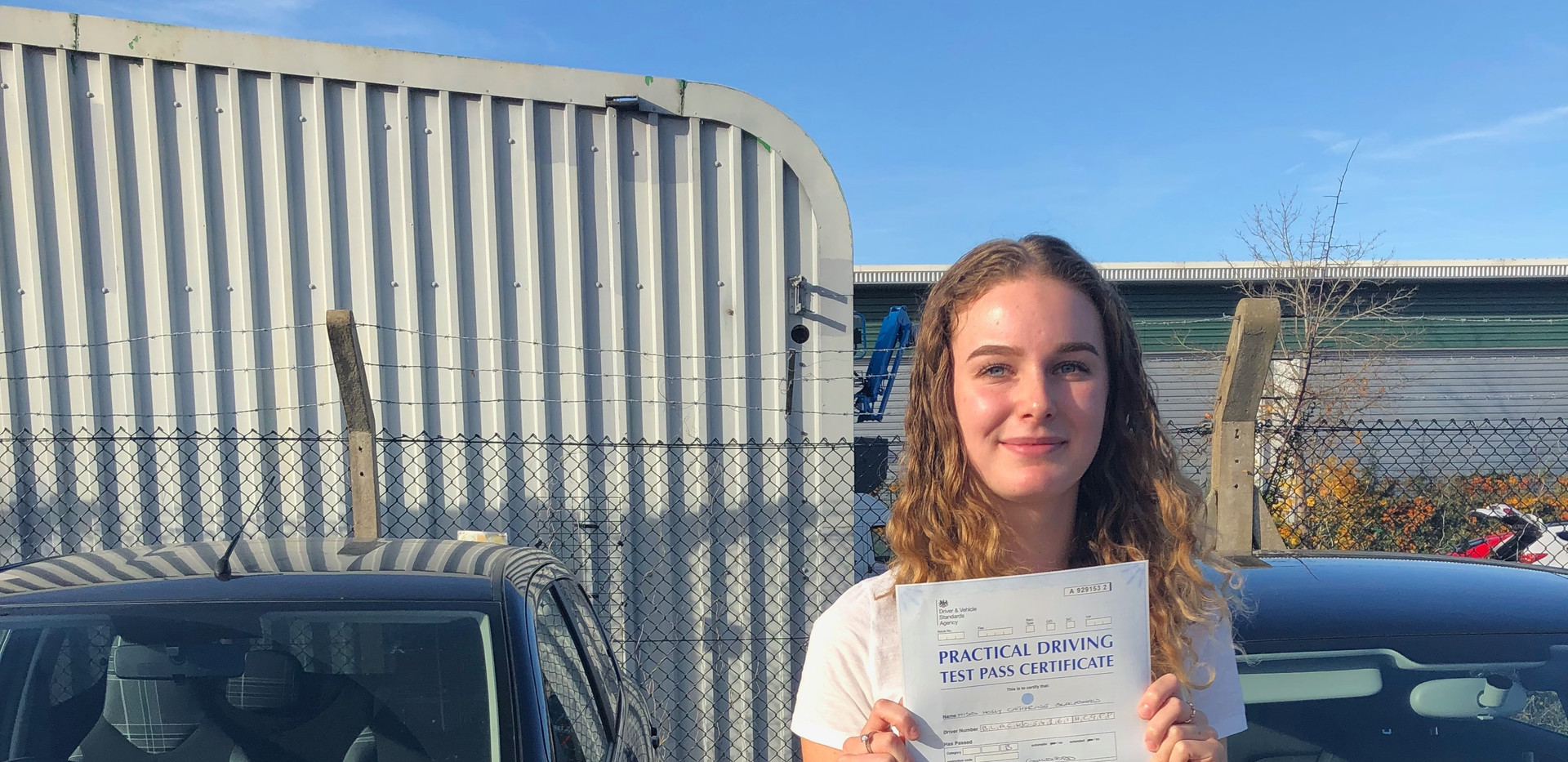 Liphook driving school lesson student - Holly Blackshaw