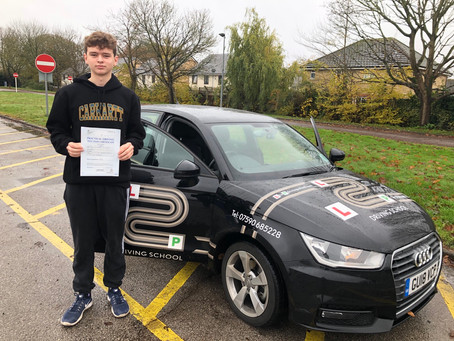 Superb first time pass for Toby!