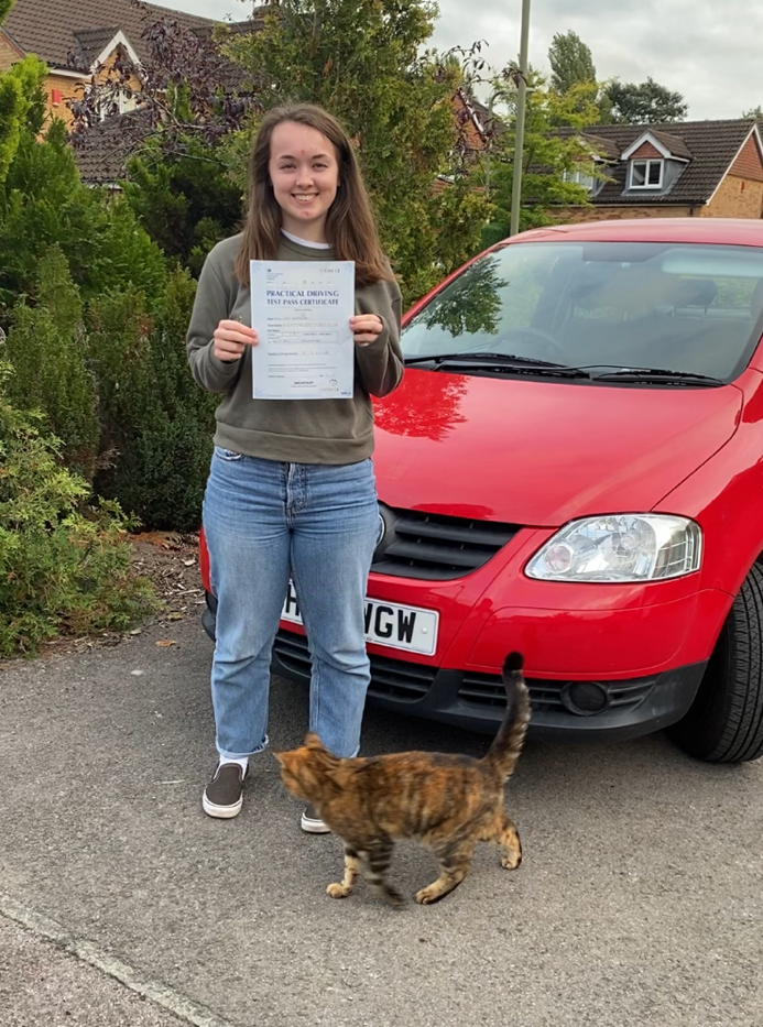 Liphook Driving School student Ellie. passes in Guildford
