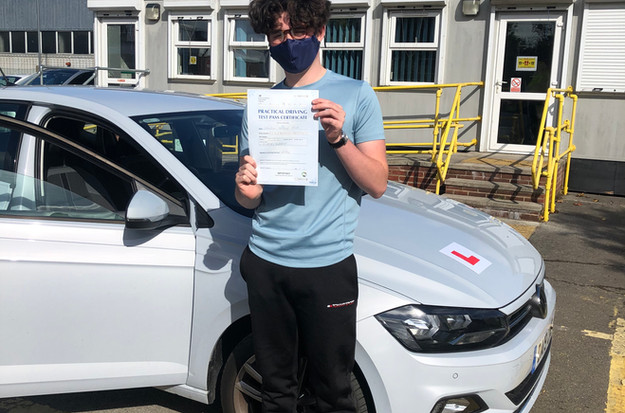 Chiddingfold driving school student,Seb passes first time in Guildford