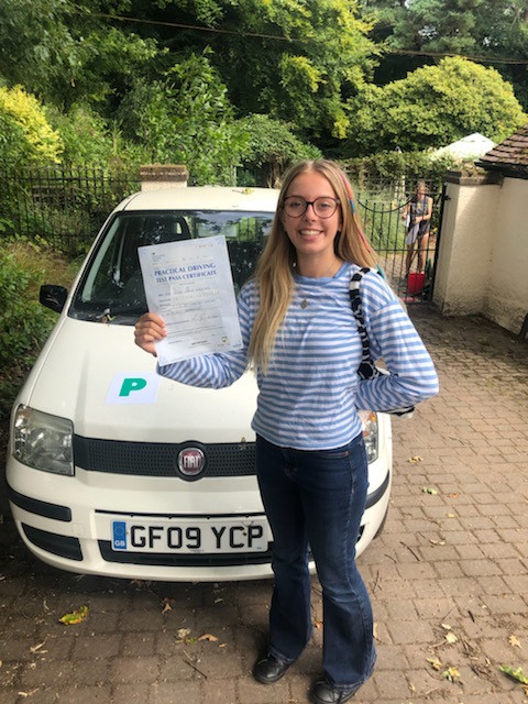 First time pass out of lockdown for Katya one of our Hindhead and Grayshott driving school pupils