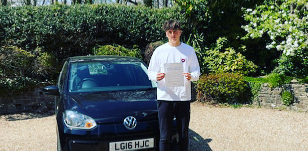 Haslemere driving school student, Billy, passes first time in Guildford