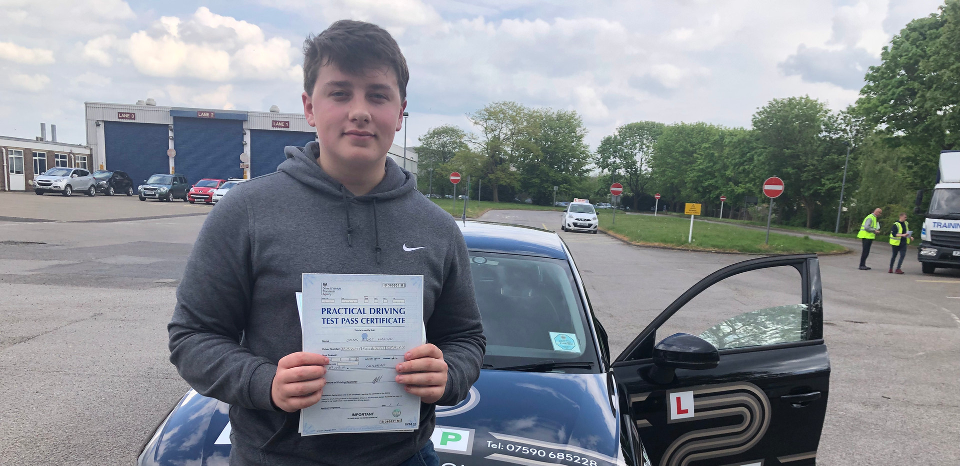 First time pass for our Hindhead driving school student James