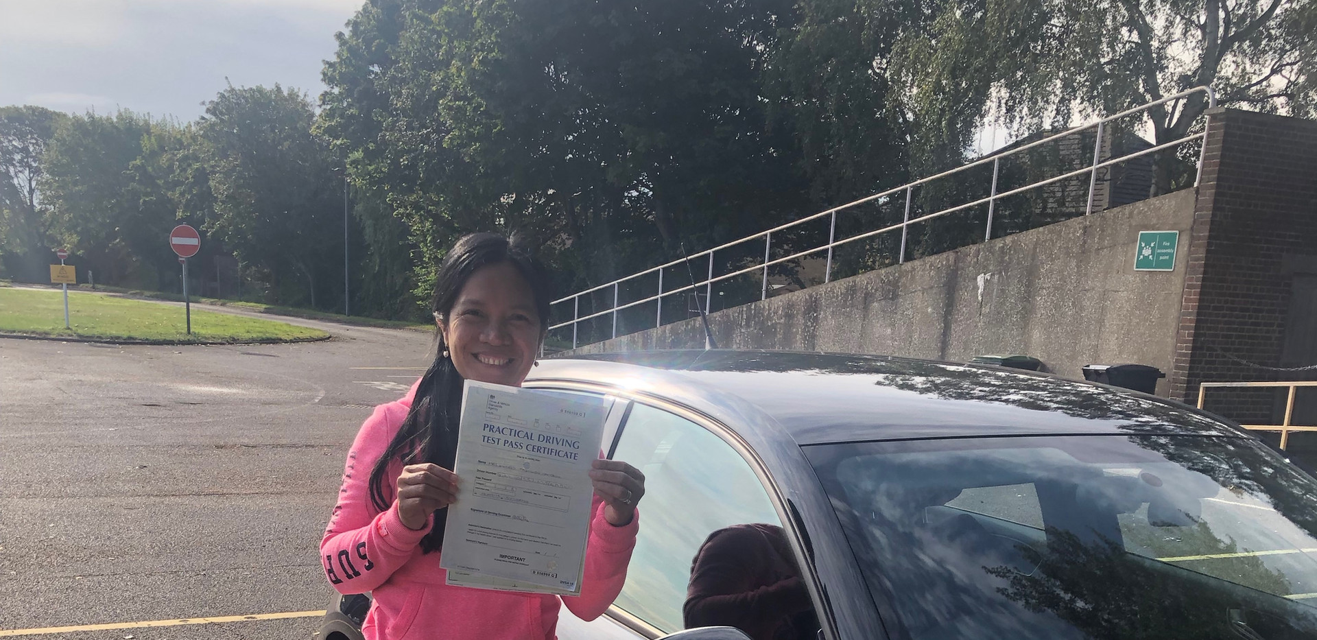 Hindhead driving school student, Erniely passes