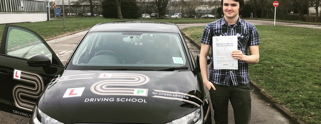 First time pass for Ned, one of our students who did his driving lessons in Hindhead and Guildford