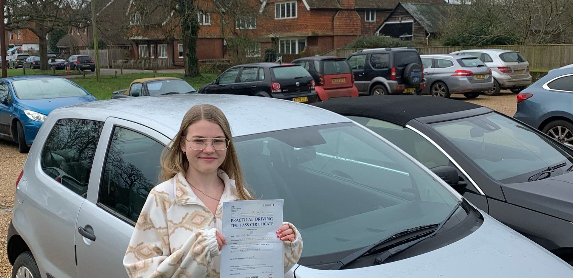 Dunsfold driving school student, Freya Ball, passes first time