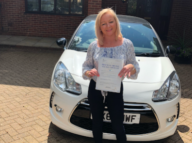 Headley Down driving school student passes at Guildford Test Centre