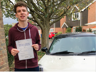 Alex passes first time at Guildford Test Centre