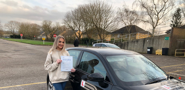 Haslemere driving school student, Emily, passes in Guildford