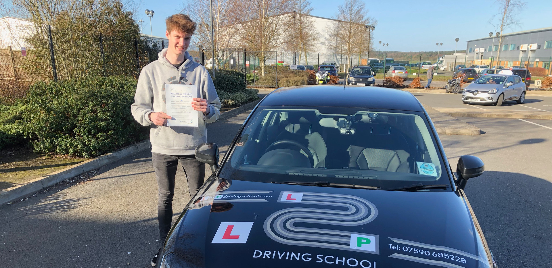 Hindhead driving lessons students James Cudbertson - Passes 1st time