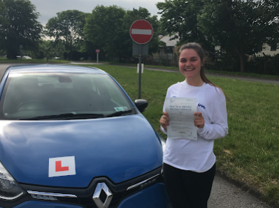 Pass for Petersfiled driving school student