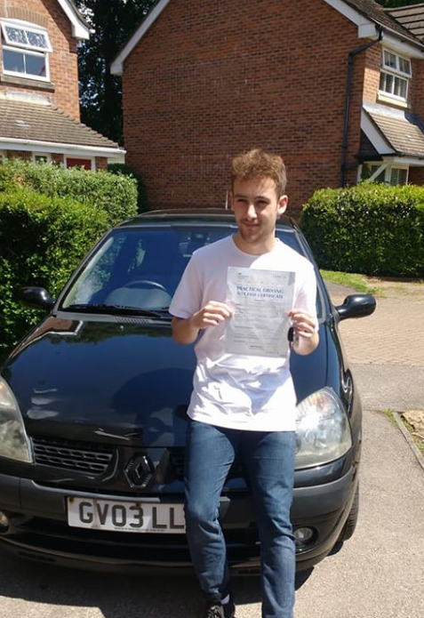 Tom Krauze, Liss Driving School student passes first time