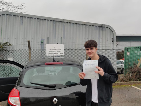 Nathan passes at Guildford Test Centre today!