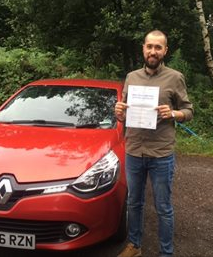 Headley Down driving lesson student Stefan passes in Guildford