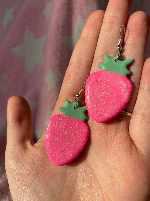 Sparkly Strawbs earrings