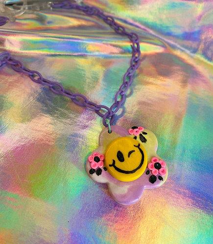Garden Gate Necklace (on purple chain)