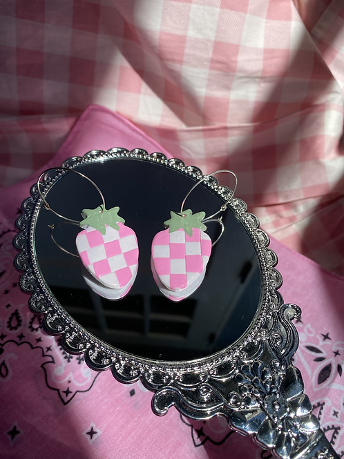 Checkerboard Berry hoops
