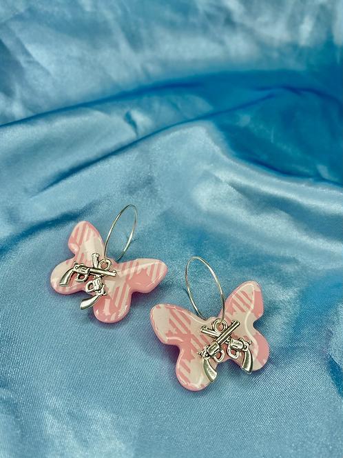 Cowgirl Summer Butterflies w/ pistols