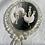 Thumbnail: silver stardust crescent dangles