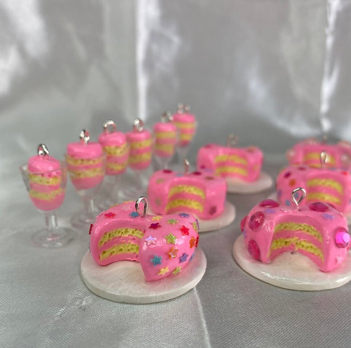 Cake in a Wine Glass Earrings & Necklace Set