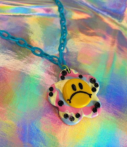 Carnival Dots Necklace (on light blue chain)