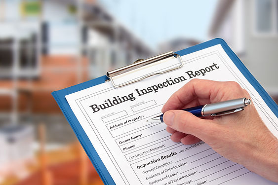 Building Inspector completing an inspect