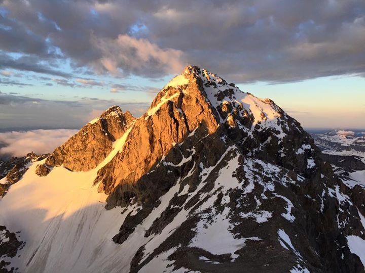 Alpenglow on the Middle Teton